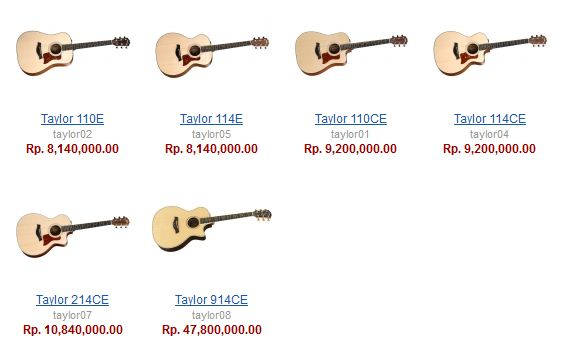 daftar harga gitar akustik murah