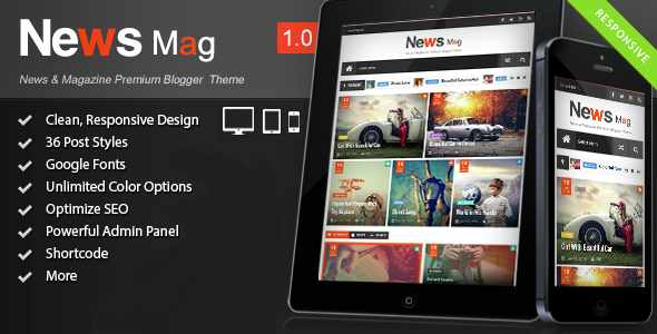 Free news mag responsive magazine blogger template 2016 free news mag is a 100 responsive blogger template and it is also compatible with most of the modern browsers the template is equipped with some valuable maxwellsz
