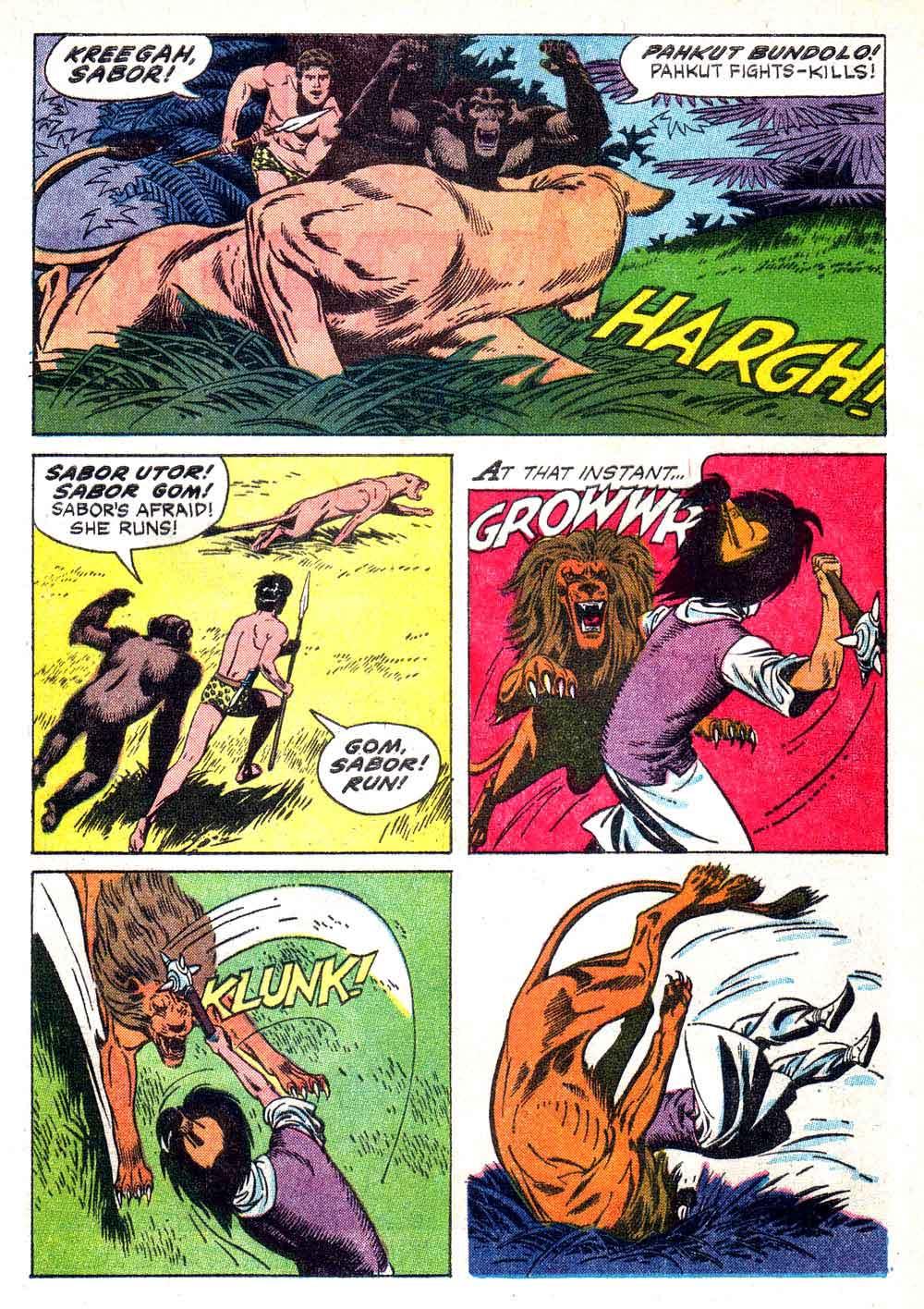 Korak Son of Tarzan v1 #7 gold key silver age 1960s comic book page art by Russ Manning