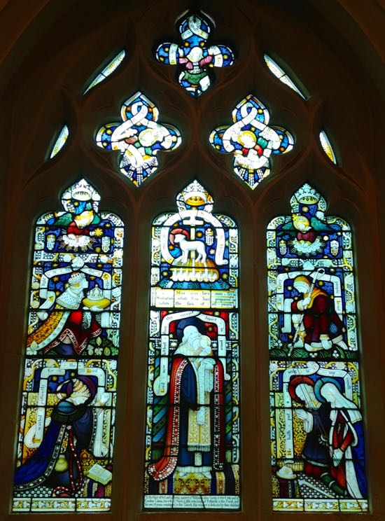 The Nunc Dimittis window at St Mary's church, North Mymms Image by the North Mymms History Project, released under Creative Commons BY-NC-SA 4.0