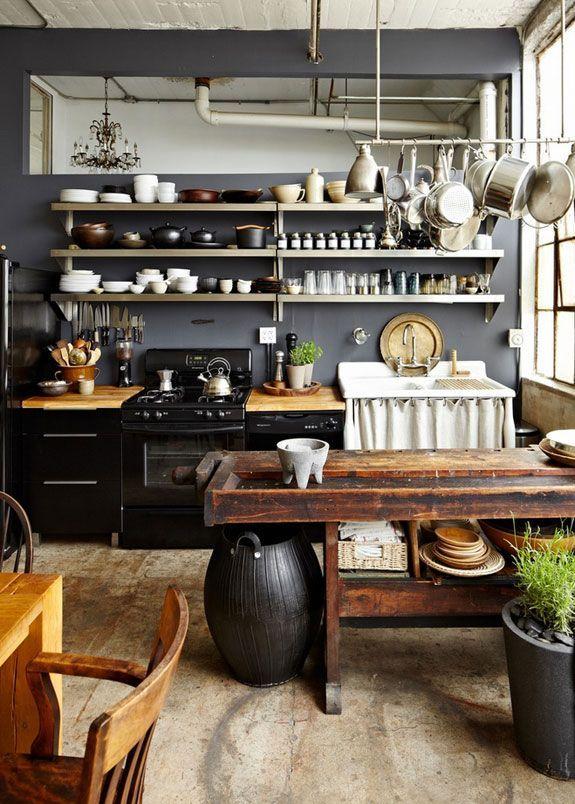 la fabrique d co cuisine rustique chic et esprit brocante. Black Bedroom Furniture Sets. Home Design Ideas