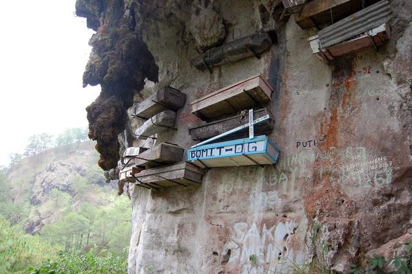 Hanging Coffins Of  Philippines At Sagada