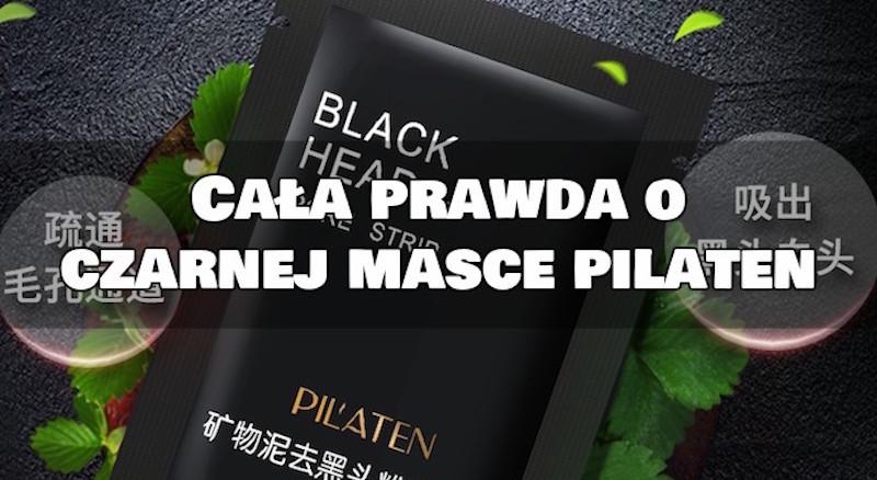 czarna maska pilaten maska węglowa oczyszczanie porów