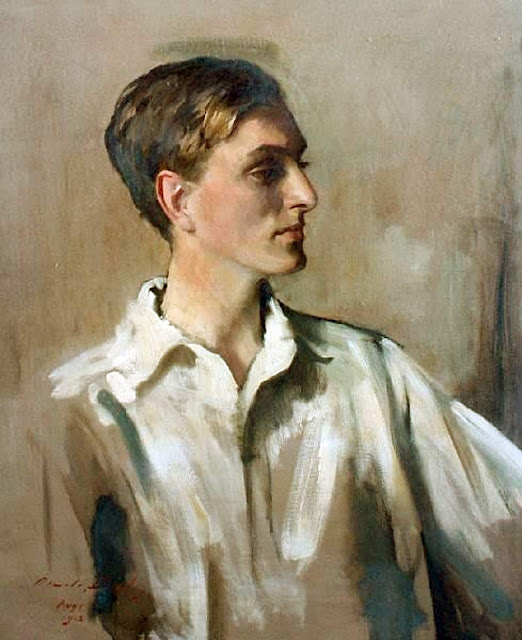 Portrait of young gentleman, Oswald Birley, Self Portrait, Art Gallery, Oswald Birley, Portraits of Painters, Fine arts, Oswald Hornby Joseph Birley, Self-Portraits, Painter Oswald Birley