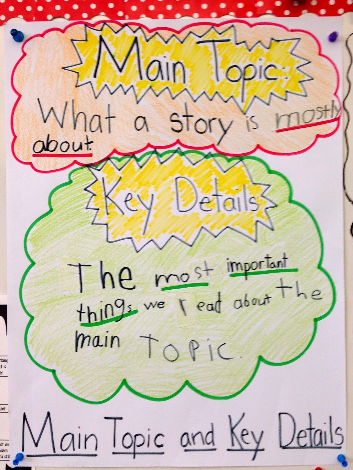 Wat Is Topic The Creative Colorful Classroom Main Topic Key Details