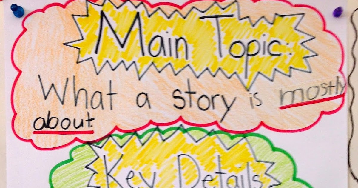 The Creative Colorful Classroom Main Topic Key Details Anchor Charts