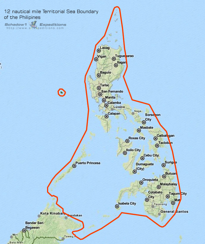 Map Of Uk 12 Mile Limit.The Philippine Territorial Boundaries Schadow1 Expeditions A