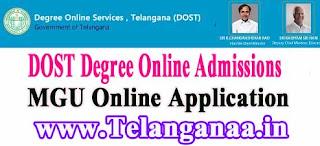 Mahatma Gandhi University Degree Online Admissions 2016 dost.cgg.gov.in MGU Degree Online Services Telangana