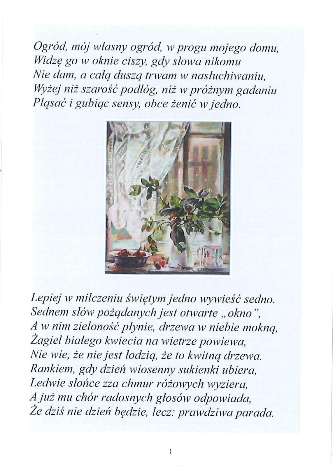Wiersze Ogród Poemat
