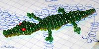 Крокодил из бисера (объемный)