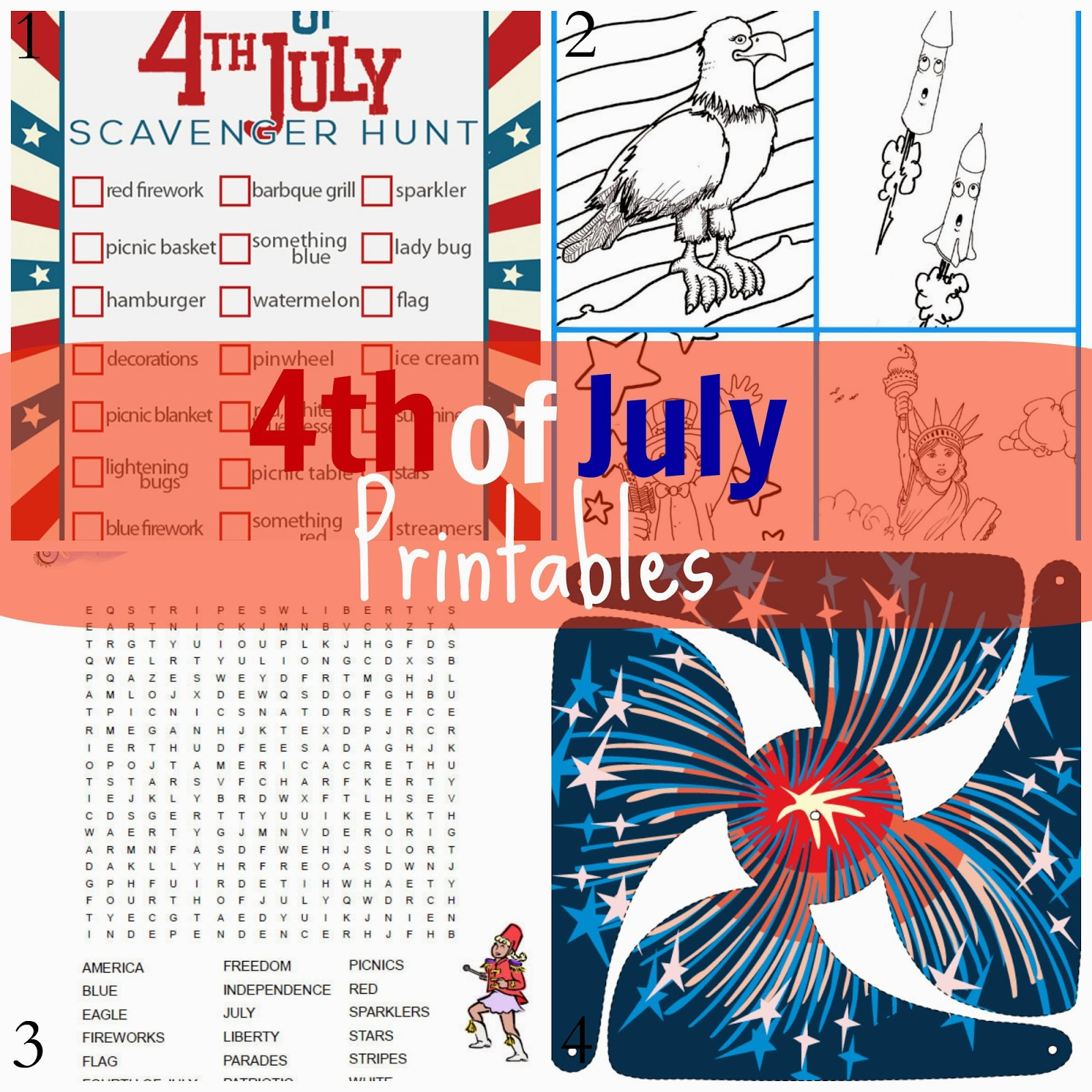 Edge Of Insanity 4th Of July Printables