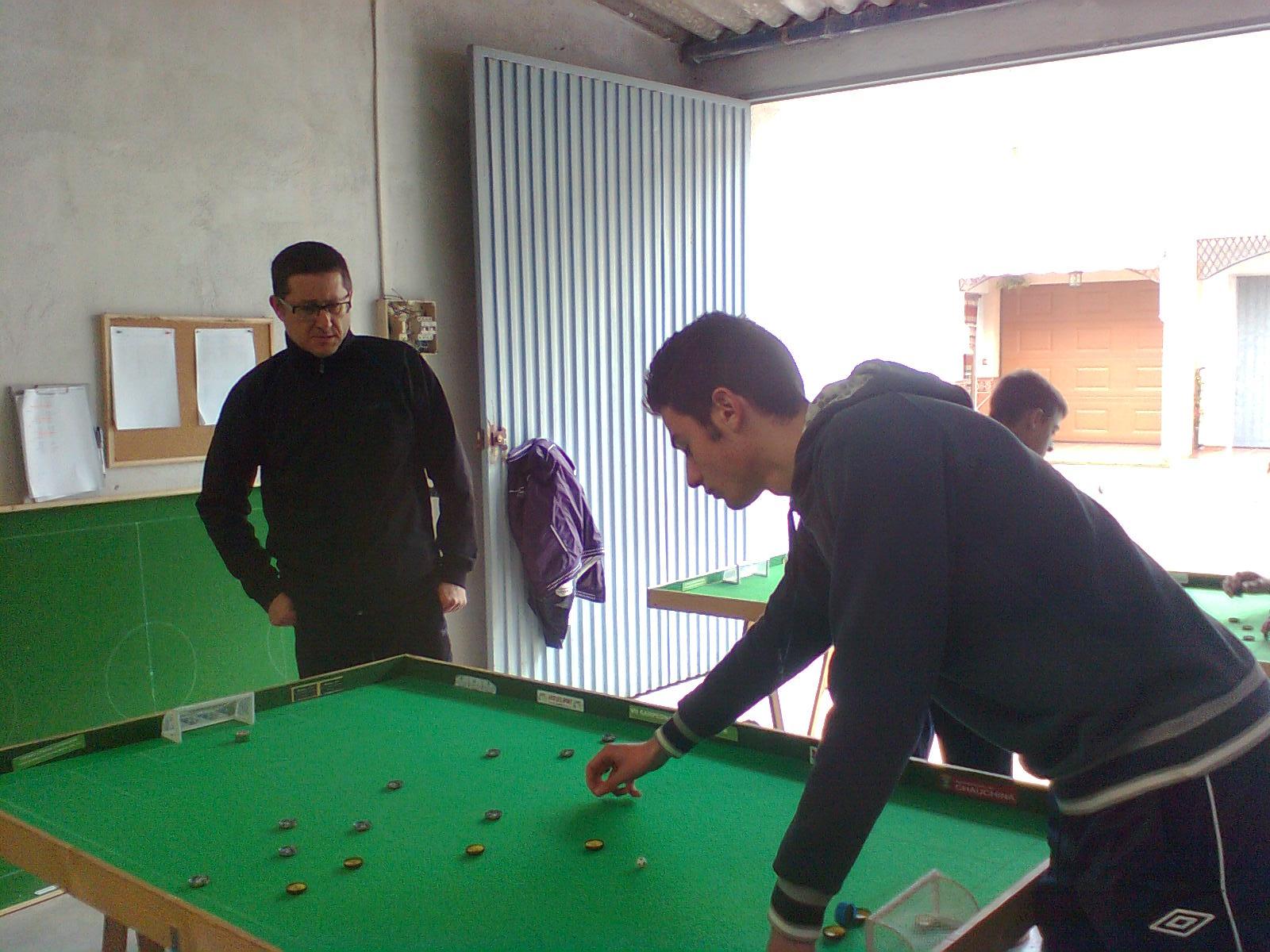 Gran partido el disputado entre Jose Antonio y Alberto