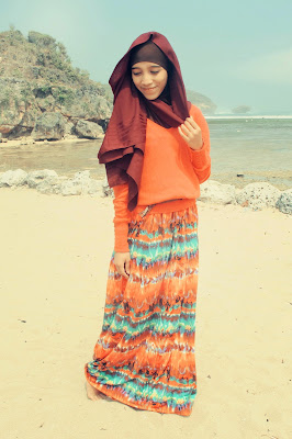 tips style hijab untuk ke pantai hijab manis