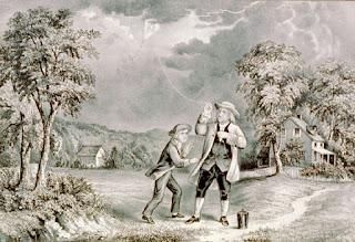 Penemu Penangkal Petir Dengan Layang Layang Benjamin Franklin