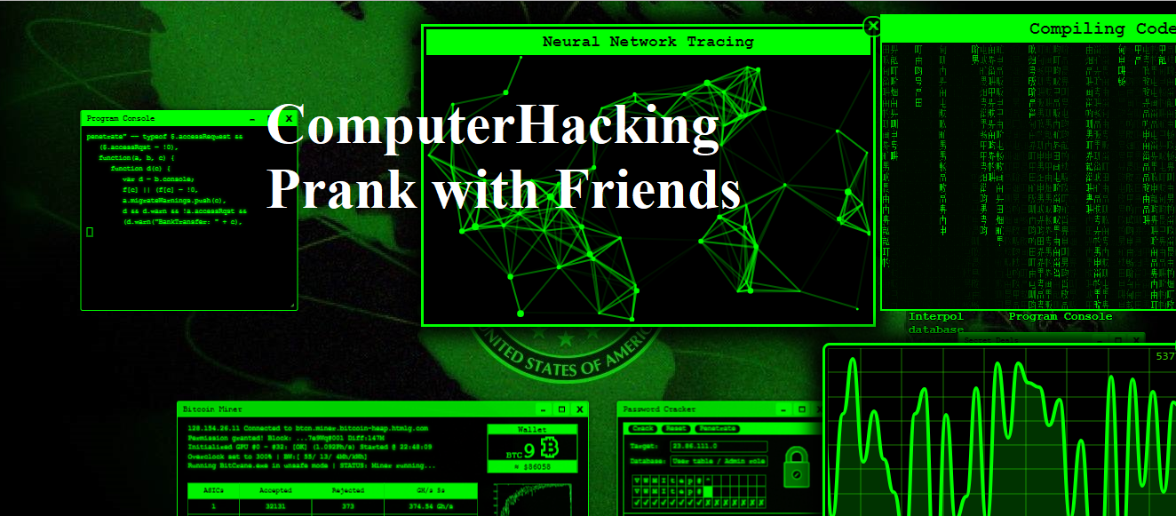 How Computer Hacking | Bank Account Hacking | Virus Attack (prank