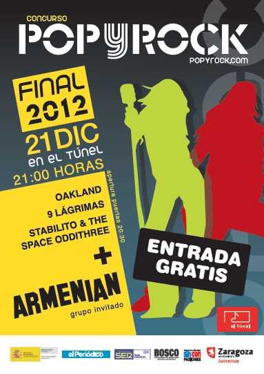 EN ARAGON: Concurso pop y Rock el 21 de Diciembre en Zaragoza 1
