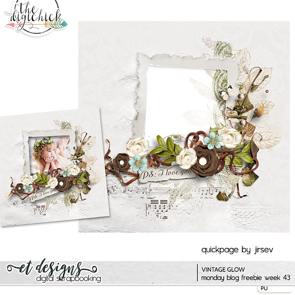 Monday Blog Freebie week 43 | Last day of sale of brand new collection Vintage Glow + coupon inside