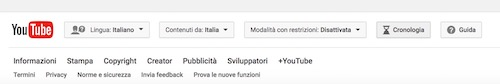 come mostrare cronologia  commenti su youtube