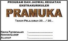Download Rencana Kerja Ekstrakurikuler Pramuka Untuk Akreditasi Tahun 2018/2019