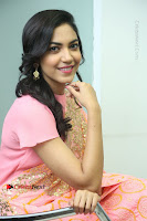 Actress Ritu Varma Pos in Beautiful Pink Anarkali Dress at at Keshava Movie Interview .COM 0270.JPG