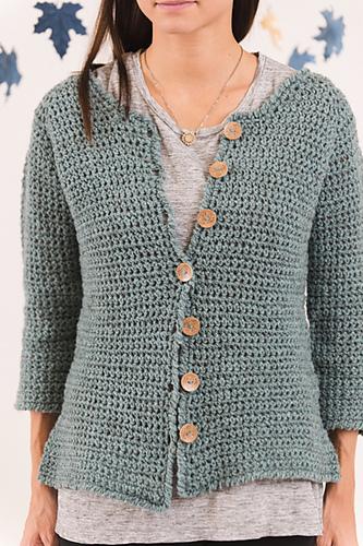 sweter szydełkiem ze wzorem