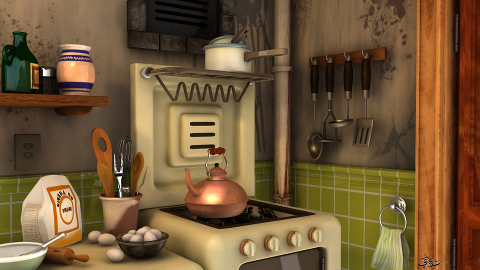 Kitchen Cartoon  my gallery cinema 4d cinema 4d  style background