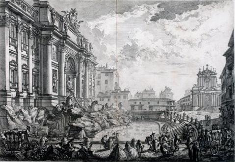 giovan battista piranesi vedute di roma fontana di trevi