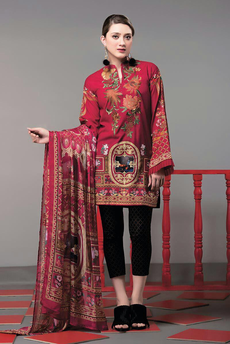 Spring Collection Pakistani Lawn Nishat Linen 3-pc Suit 2018 Summer original