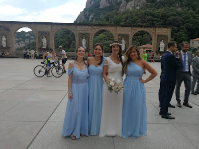 damas de honor bridesmaids dresses vestido handmade wedding skyblue azul cielo modistilla de pacotilla kew dress nina lee london handmade
