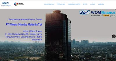 halaman website untuk informasi wom finance secara lengkap