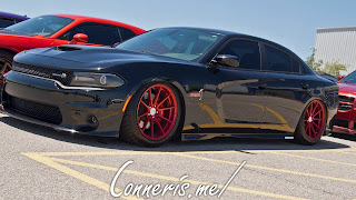 Dodge Charger Scat pack Red on Black Lowered