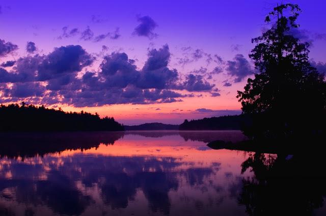 Purple Beach Landscape HD Desktop Wallpaper