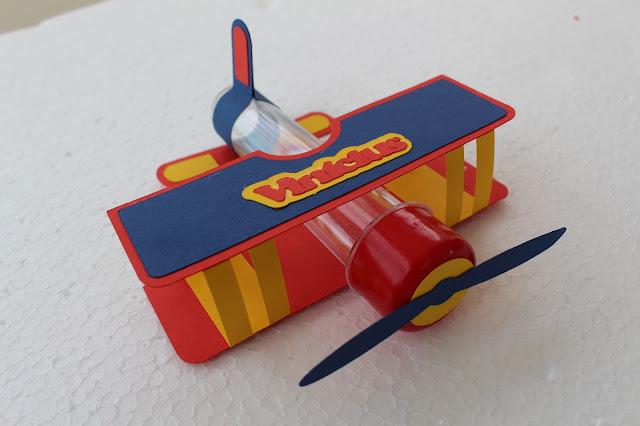 Tubete avião Pequeno Príncipe