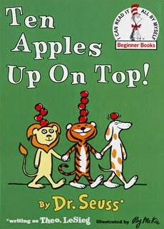 Ten Apples Up On Top, part of children's book review list about fruit