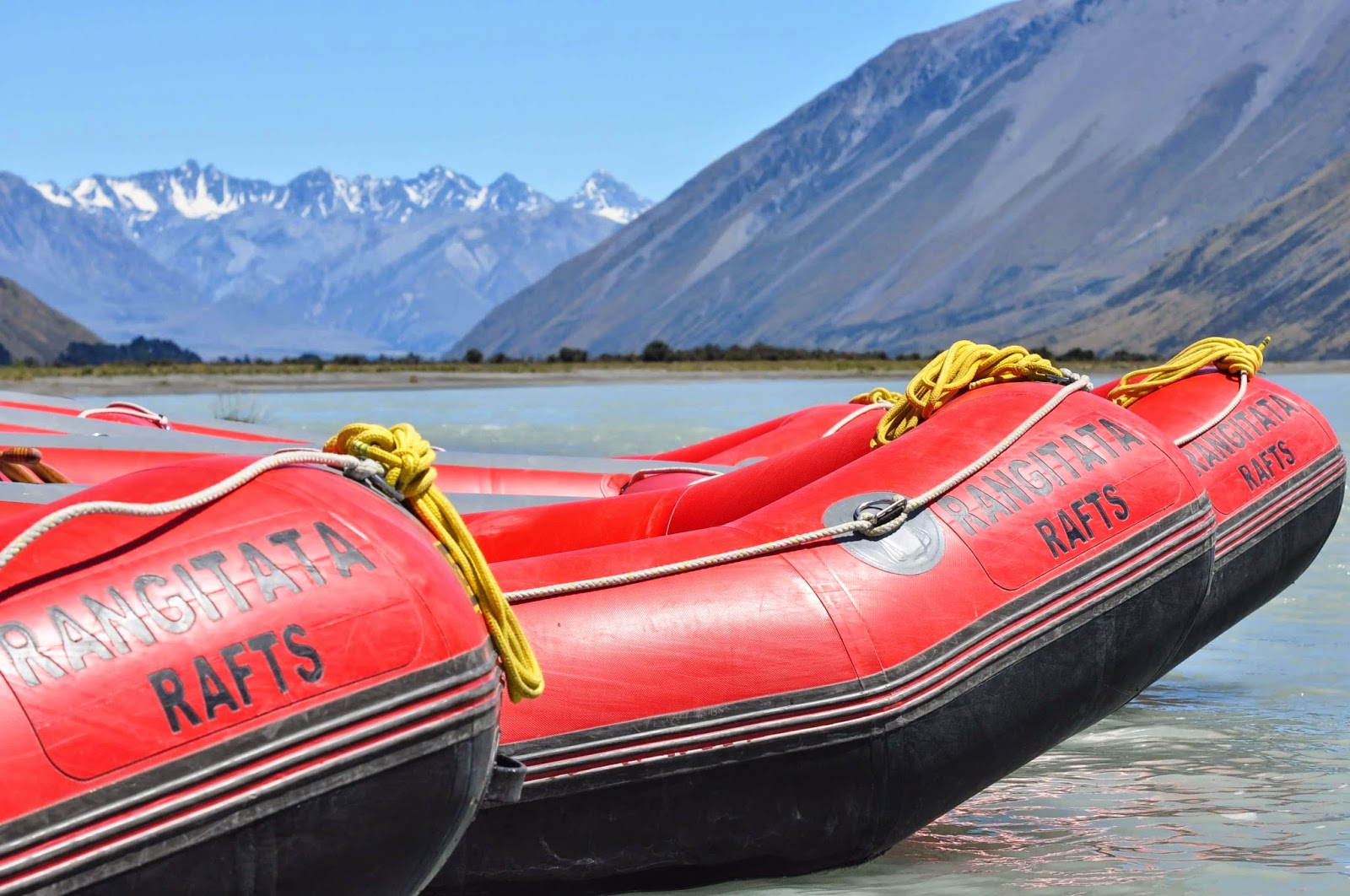 Rafting the rapids at Rangitata