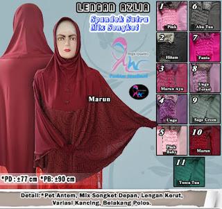 Jilbab lengan panjang murah bahan spandek sutra polos