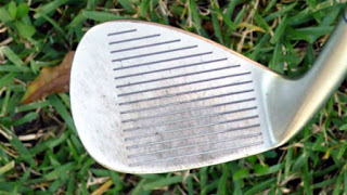 worn out golf iron grooves