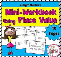 Mini Workbook using 2 Digit Numbers