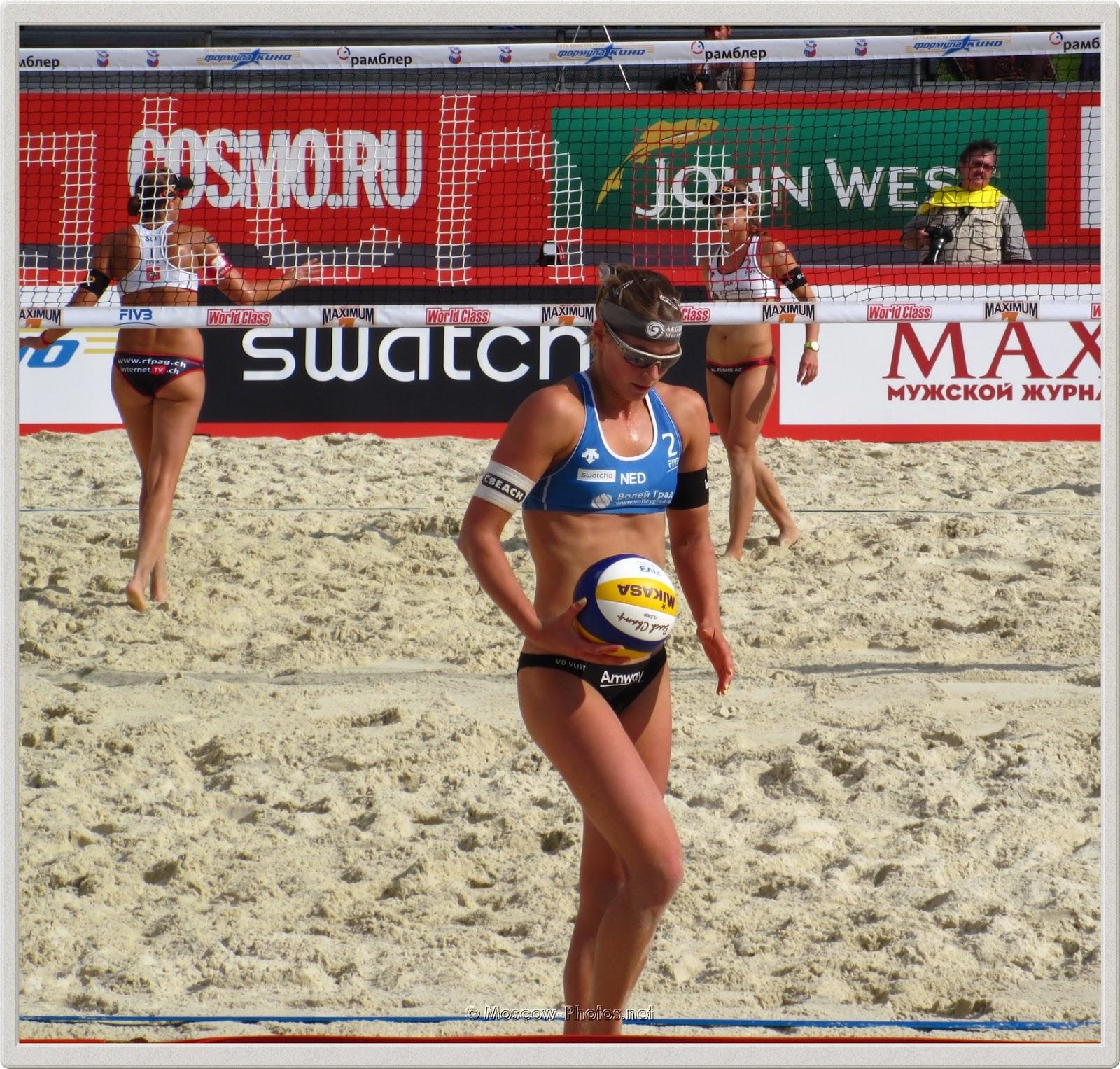 Beach Volleyball Player Jantine van der Vlist