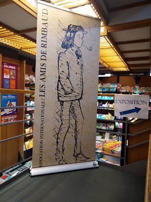 kakemono à la librairie Rimbaud