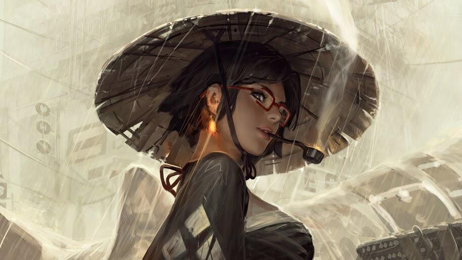 Girl, Smoking, Fantasy, 4K, #6.781