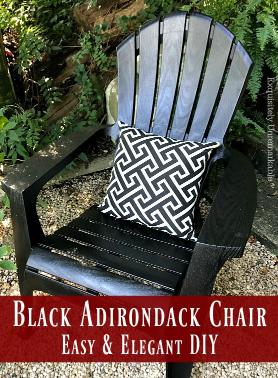 Black Adirondack Chair  Easy & Elegant DIY Exquisitely Unremarkable