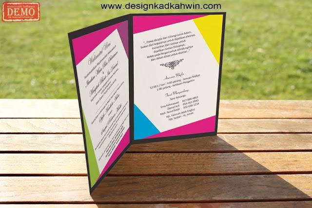 Design kad kahwin guna photoshop