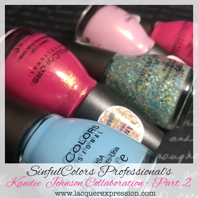 Swatch and Review of the SinfulColor Kandee Johnson Pretty Vintage Nail Polish Collection