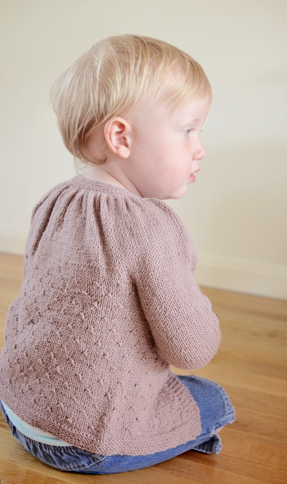 Lil Tamzin gathered yoke cardigan pattern by Katya Frankel