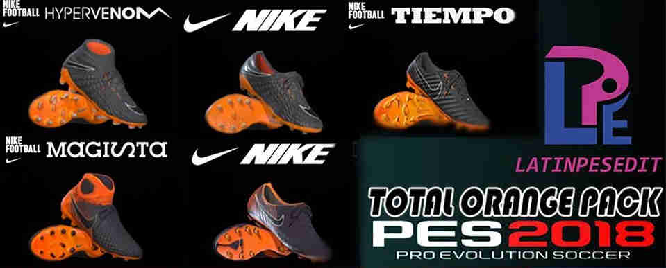 PES 2018 Nike Black/Total Orange Pack 2018 by LPE09