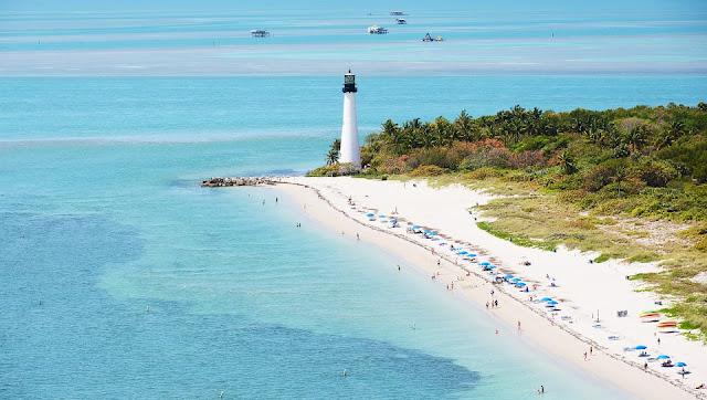 Praia de Bill Baggs em Key Biscayne