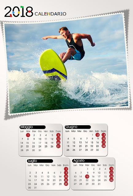 Calendario quadrimestrale 30x45