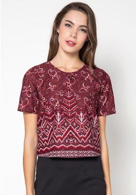 Model Baju Batik Solo Lengan Pendek