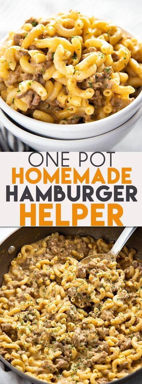 One Pot Homemade Hamburger Helper
